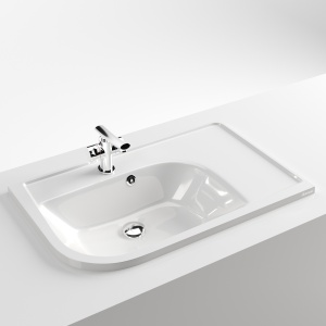 Washbasin Ravak Praktik U (acryl, Right-hand)