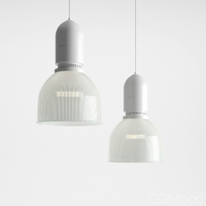 Industrial Glass Pendant Light