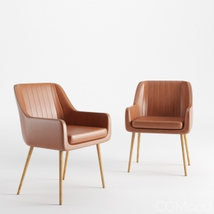 Cognac Pike Chair