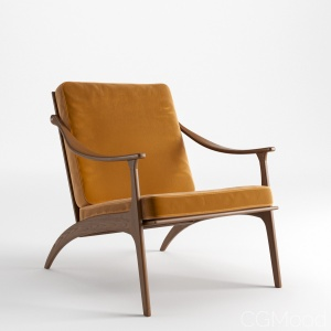 Lean Back Lounge Chair, Teak