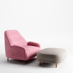 Tacchini Santiago Armchair And Ottoman Set
