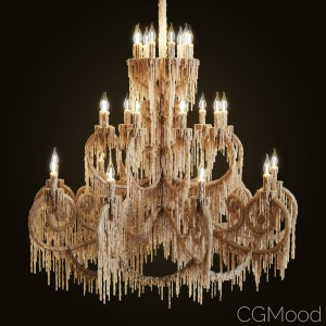 Wax Dipped Chandelier