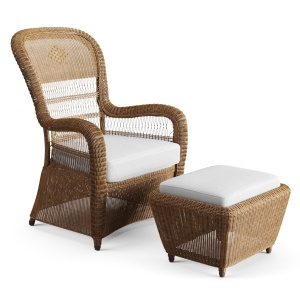 Straw Chair Bergere