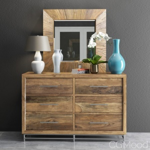 L'usine Dresser with Mirror and Decorative sets
