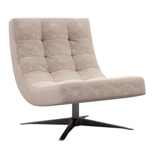 Rh Carlton Leather Swivel Chair