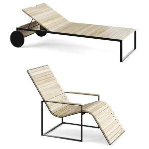 Roshults Garden Sun Chair & Garden Lounger