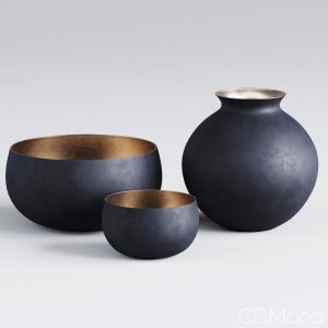 Rh | Matte Black | Brass Vessel - Bowl