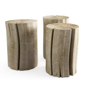 Wood Stub Side Tables