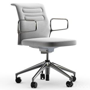 Vitra Ac 5 Studio Chair In Light Gray & Sierra Gra