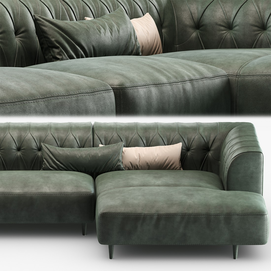 Sofa gamma arredamenti marlon s03 d31 pg010 3d model for Dama arredamenti