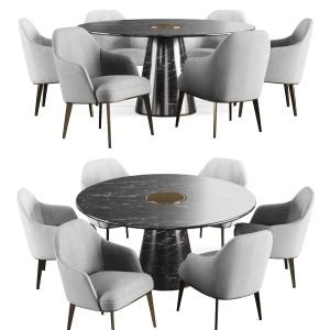 Poliform Jane,bertoia Round Dining Table