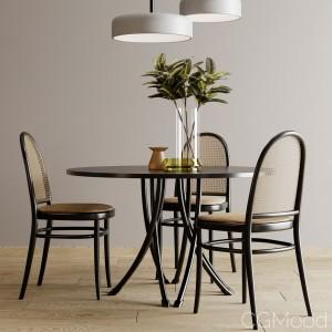 Gebrueder Thonet Vienna - Table And Chair