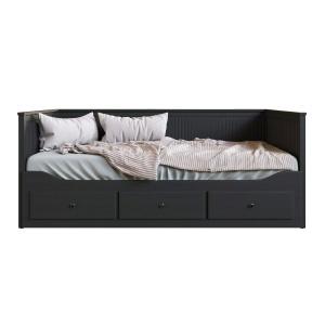Ikea Hemnes Bed Black