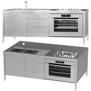 Alpes Inox Kitchen Island