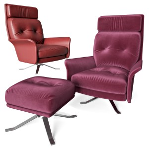 Glen Armchair And Pouf