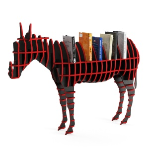 Shelf Pony Plywood With Books