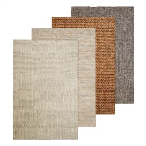 Natural Basket Weave Jute Rug