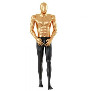Abstract Mannequin Made Of Plastic And Gold Color