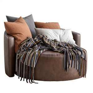 Leather Armchair Cosybed By Papadatos