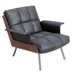 Daiki  Leather Armchair By Minotti