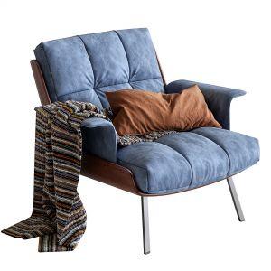 Daiki Fabric Armchair By Minotti