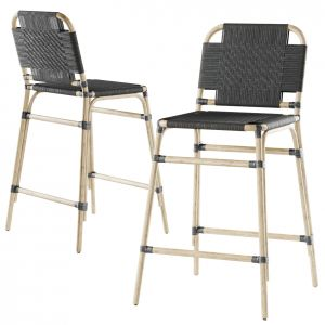 Rattan Bar Stool Md43 High Back