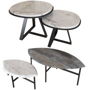 Set Coffee Table. Book One & Two. Meridiani JUDD