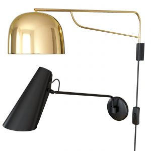 Set Grant Wall Lamp Brass. Birdy Wall