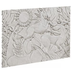Bas-relief With Deer