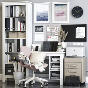 Ikea Brusali Office Workplace With Langfjall Chair