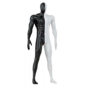 Male Abstract Mannequin White With Black Color 89