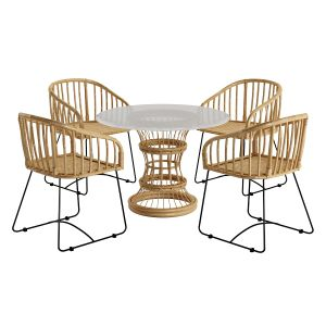 Table And Chair Rattan
