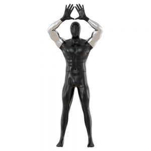 Male Abstract Mannequin Shows Symbol With Hands 92