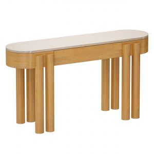 Oasis Oval Wood Console Table