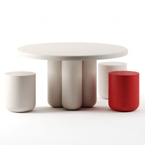 Giudecca Dining Table Round By Cimento