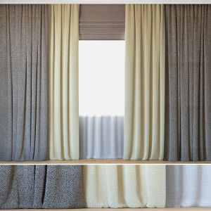 Curtains 26 | Curtains With Tulle | Herringbone