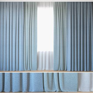 Curtains 24 | Curtains With Tulle | Herringbone