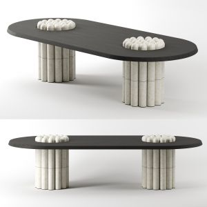 Raku-yaki Dining Table-oblong By Emmanuelle Simon
