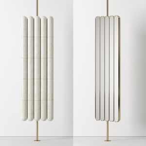 Raku-yaki Swinging Mirror By Emmanuelle Simon