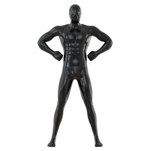 Male Black Mannequin In Wide Pose 97