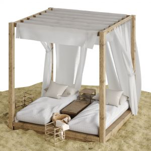 Beach Lounge Outdoor Set 3