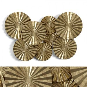 Newhill Designs Wide Gold Fan Wall Art