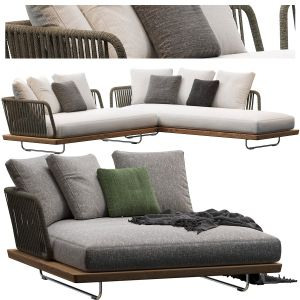 Sunray Sofa Minotti Outdoor