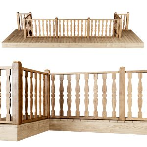 Wooden Stair Fencing D01
