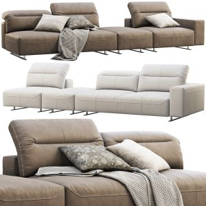 Boconcept Hampton Modular Leather Sofas