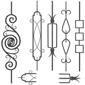Wrought Iron Panel No.14