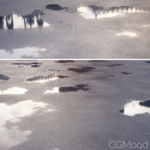 Lightweight Wet Asphalt Shader