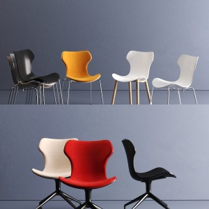Papilio Shell chairs by B&B Italia