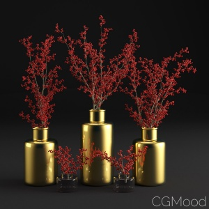 Branches With Berries In A Vase