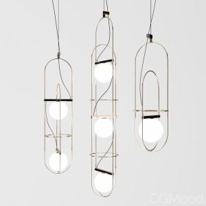Setareh Suspension Lamps By Fontana Arte